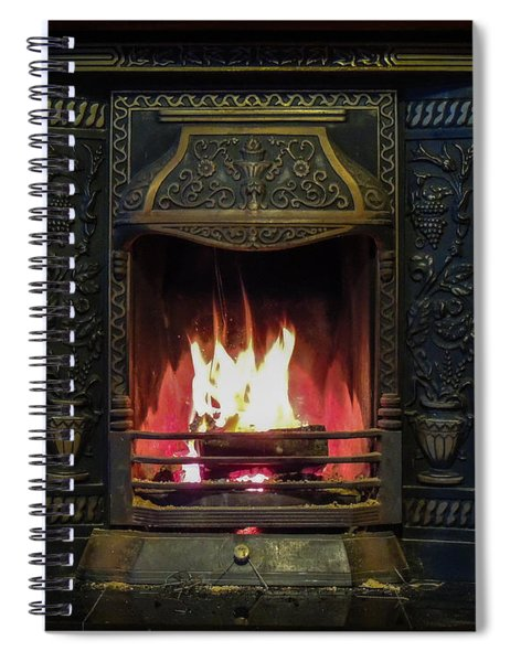 Turf Fire In Irish Cottage Spiral Notebook
