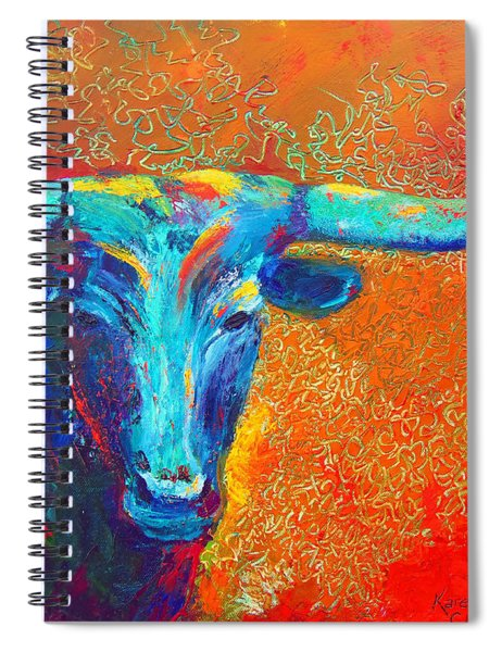 Turquoise Longhorn Spiral Notebook