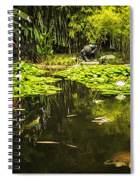 Turtle In A Lily Pond Spiral Notebook