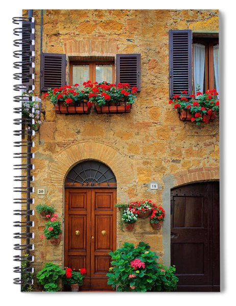 Spiral Notebook featuring the photograph Tuscan Homes by Inge Johnsson