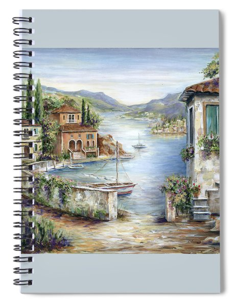 Tuscan Villas By The Lake Spiral Notebook