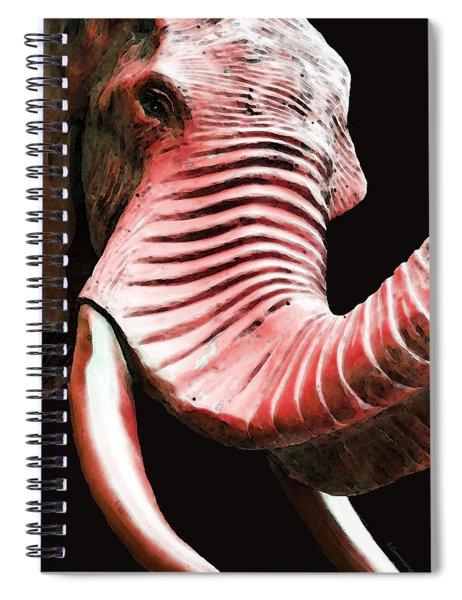 Tusk 4 - Red Elephant Art Spiral Notebook
