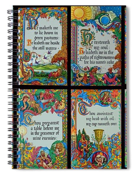 Twenty Third Psalm Collage 2 Spiral Notebook