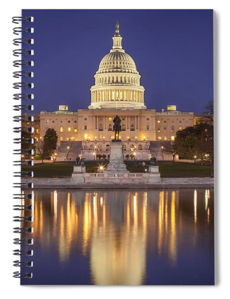 Spiral Notebook featuring the photograph Twilight At Us Capitol by Brian Jannsen