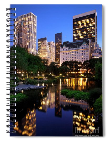 Spiral Notebook featuring the photograph Twilight Nyc by Brian Jannsen