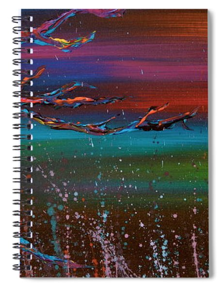 Twilight Sun Spiral Notebook