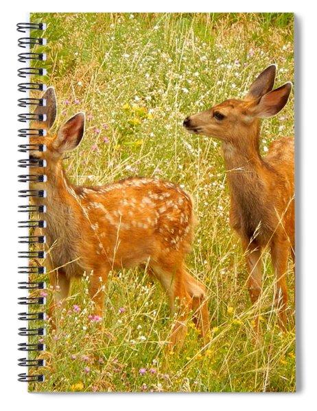 Twin Fawns Spiral Notebook