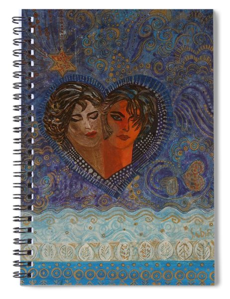 Twinsouls, 2007 Mixed Media Spiral Notebook