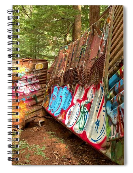 Twisted Train Wreckage Spiral Notebook