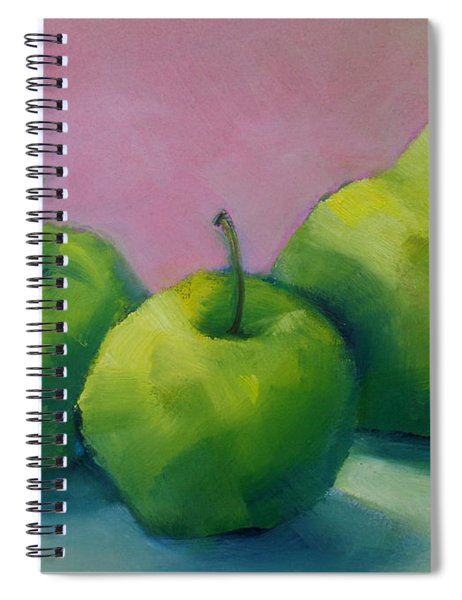 Two Apples And One Pear Spiral Notebook
