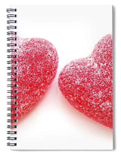 Two Candy Hearts Spiral Notebook