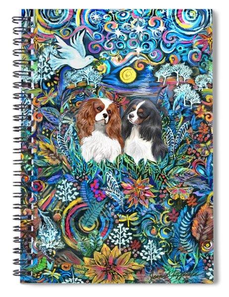 Two Cavaliers In A Garden Spiral Notebook