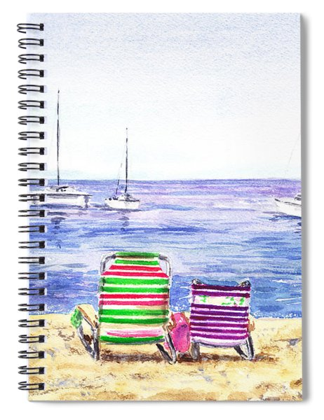 Two Chairs On The Beach Spiral Notebook