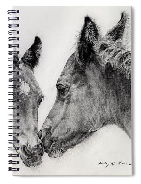 Two Foals Spiral Notebook