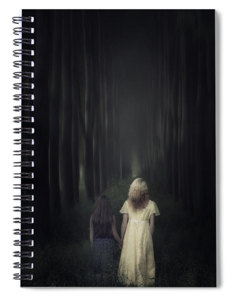 Two Girls In A Forest Spiral Notebook