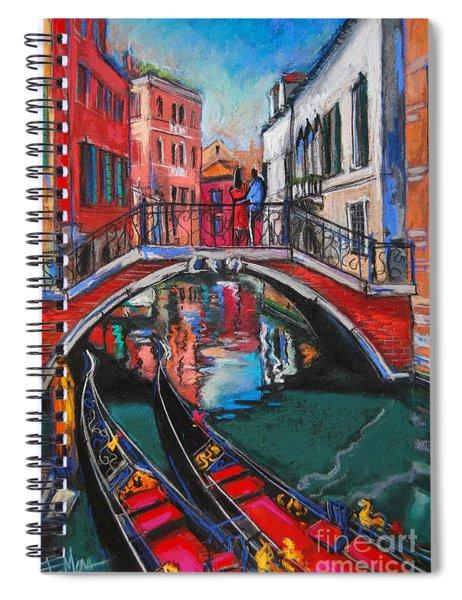 Two Gondolas In Venice Spiral Notebook
