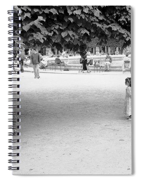 Two Kids In Paris Spiral Notebook