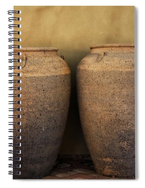 Two Large Garden Urns Spiral Notebook