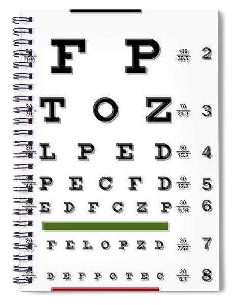 Two Martini Eye Chart Spiral Notebook