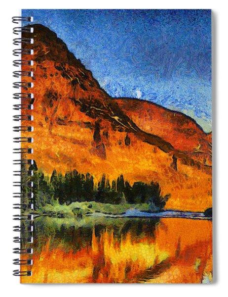 Two Medicine Sunrise - Digital Painting Spiral Notebook