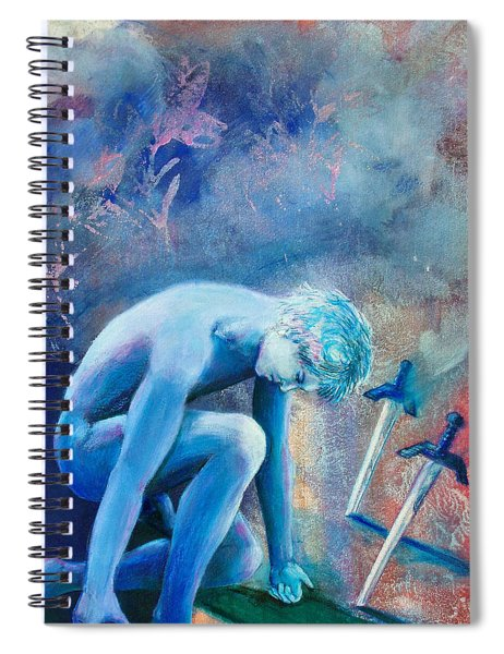 Two Of Swords Spiral Notebook