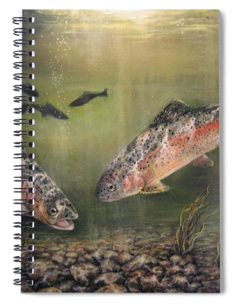 Two Rainbow Trout Spiral Notebook