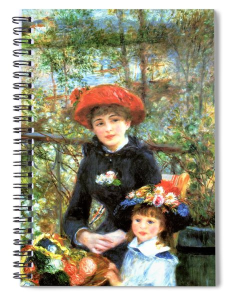 Two Sisters On The Terrace Spiral Notebook