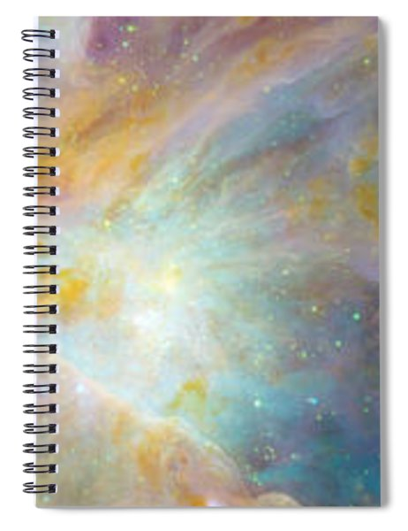Two Sunflowers With Gaseous Nebula Spiral Notebook