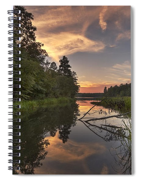 Tyler State Park Lake At Sunset Spiral Notebook