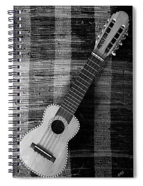 Ukulele Still Life In Black And White Spiral Notebook