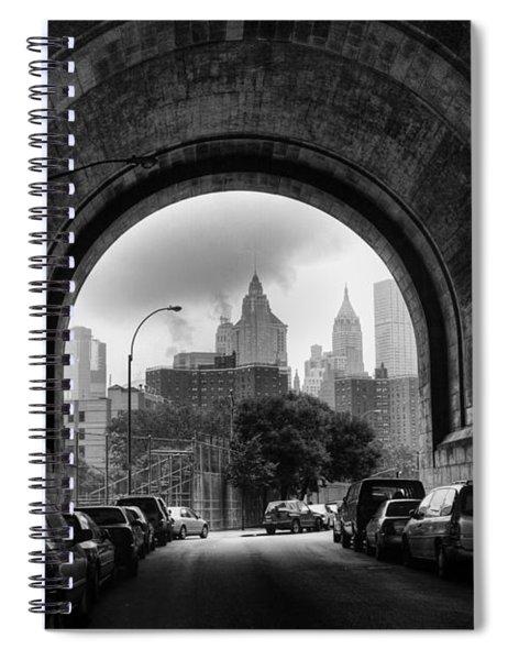 New York City - Manhattan Bridge - Under Spiral Notebook