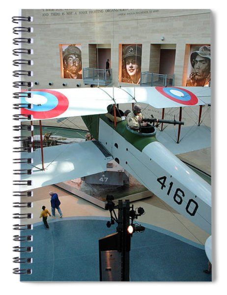 Under The Jenny At The Marine Corps Museum Spiral Notebook