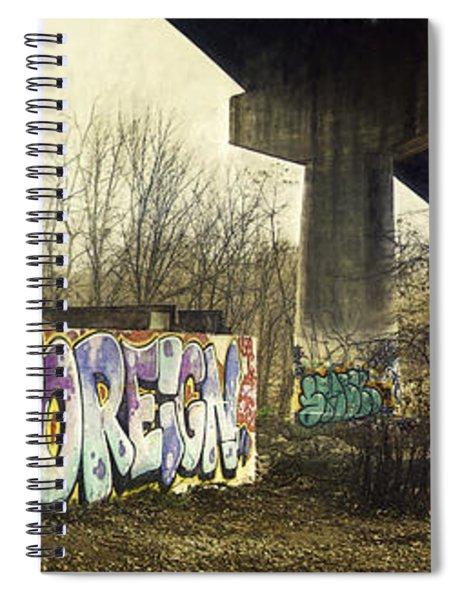 Under The Locust Street Bridge Spiral Notebook