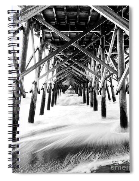 Under The Pier Folly Beach Spiral Notebook