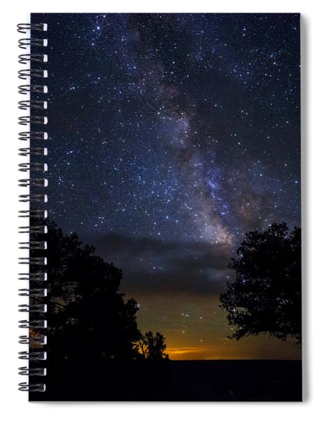 Under The Stars At The Grand Canyon  Spiral Notebook