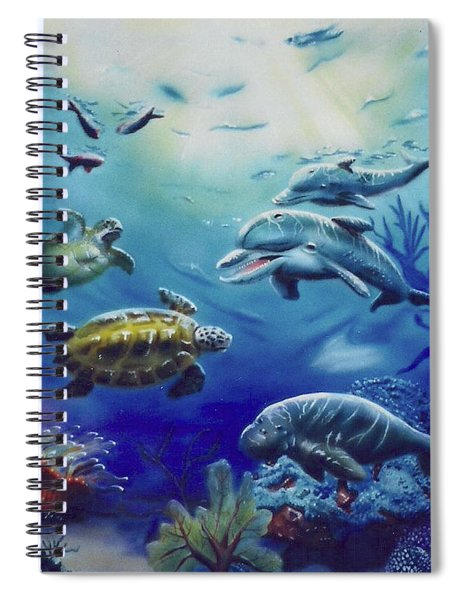 Under Water Antics Spiral Notebook