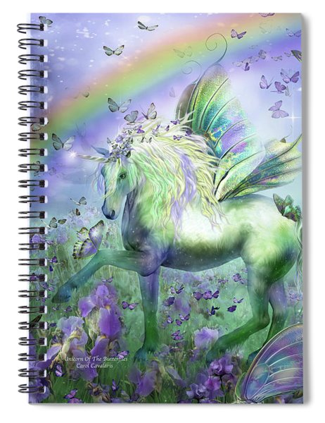 Unicorn Of The Butterflies Spiral Notebook