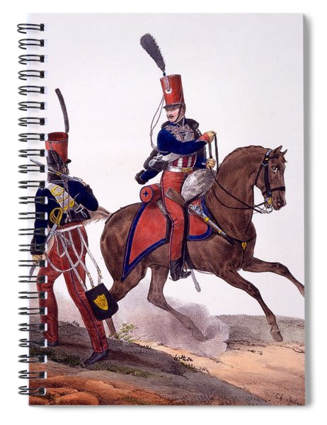 Uniforms Of The 5th Hussars Regiment Spiral Notebook