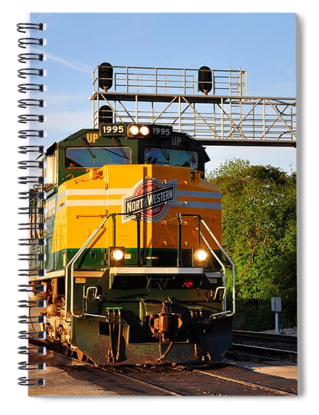 Union Pacific Chicago And North Western Heritage Unit Spiral Notebook