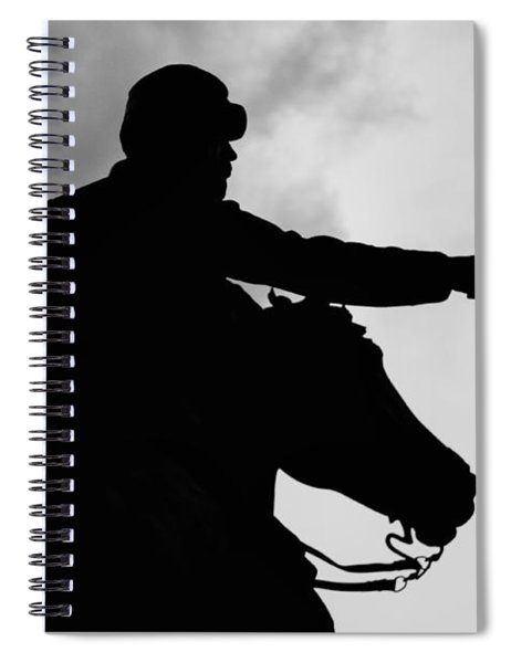 Union Silhouette  Spiral Notebook