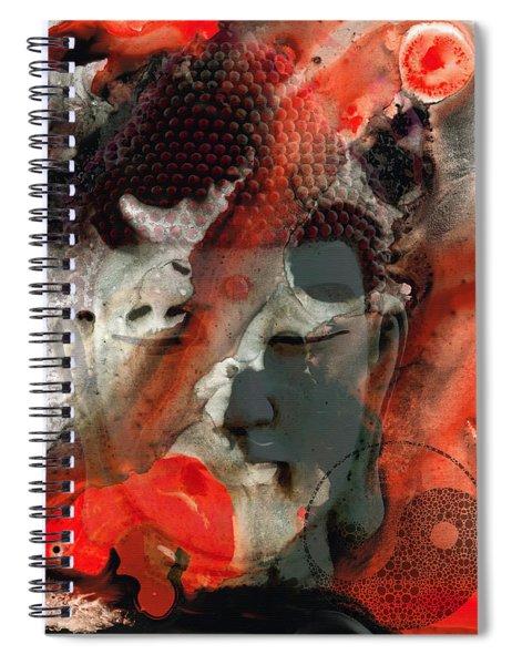 Universal Qi - Zen Black And Red Art Spiral Notebook