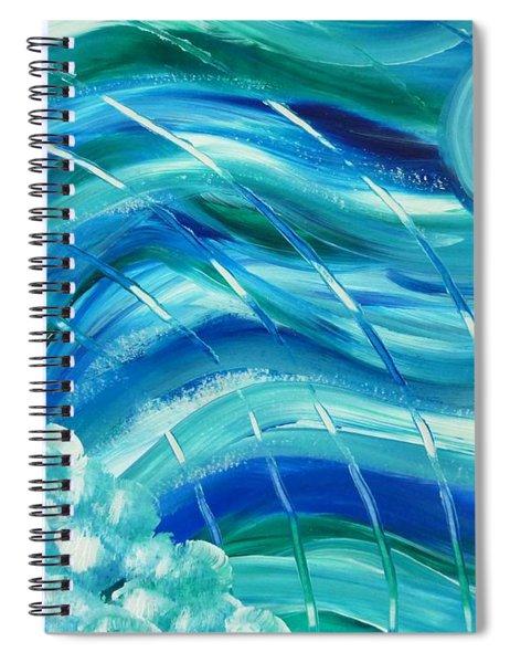 Universal Waves Spiral Notebook