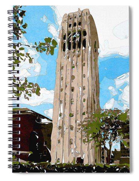 University Of Michigan Tower Abstract Spiral Notebook
