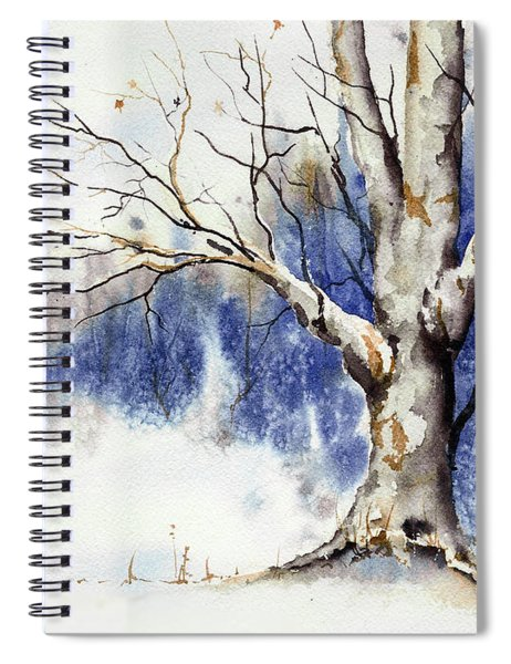 Untitled Winter Tree Spiral Notebook