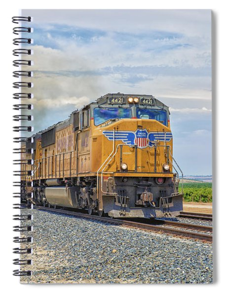 Spiral Notebook featuring the photograph Up4421 by Jim Thompson