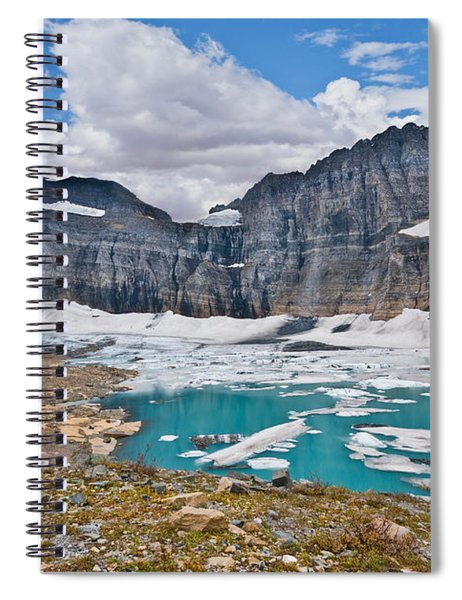 Upper Grinnell Lake And Glacier Spiral Notebook