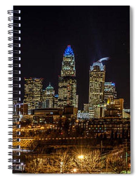 Uptown Charlotte Panorama Spiral Notebook
