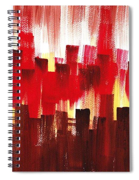 Urban Abstract Evening Lights Spiral Notebook