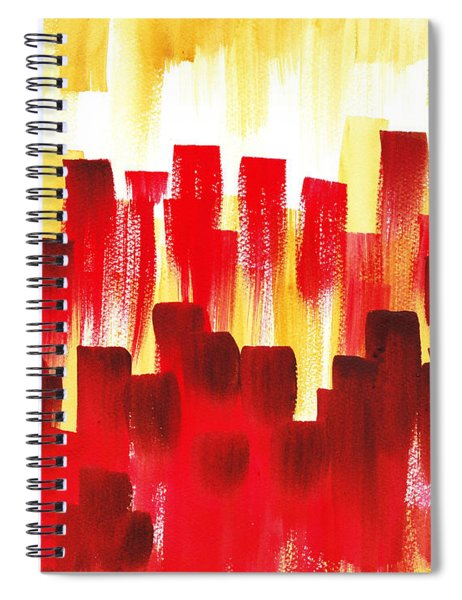 Urban Abstract Red City Lights Spiral Notebook