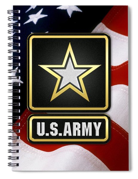 U. S. Army Logo Over American Flag. Spiral Notebook